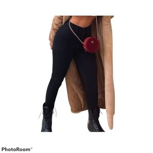Fashion Nova High Rise Skinny Jean, Black, 13